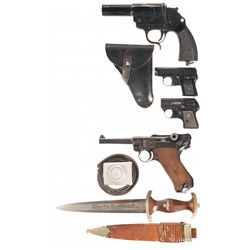 Three Pistols and One Flare Gun -A) Berlin Lubecker Heer Model Flare Pistol