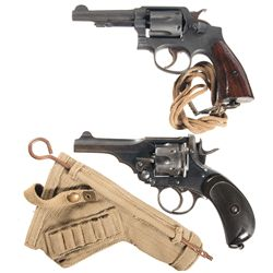 Two Double Action Revolvers -A) Smith & Wesson Victory Model Double Action Revolver