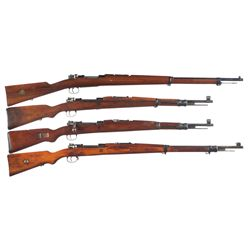 Four European Military Bolt Action Rifles -A) Carl Gustaf Model 96 Bolt Action Rifle