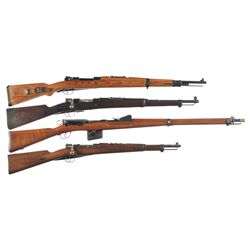 Four Bolt Action Military Longarms -A) Nazi Waffenwerke Brunn  dou/42  Model G24(t) Bolt Action Rifl