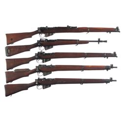 Five Commonwealth Military Bolt Action Longarms -A) Enfield SMLE III* Bolt Action Rifle