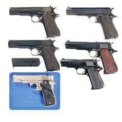 Six Star Semi-Automatic Pistols -A) Rare Nazi Proofed Star Model B Semi-Automatic Pistol