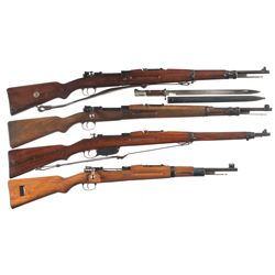 Four Bolt Action Military Longarms -A) CZ Vz24 Bolt Action Rifle with Bayonet