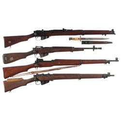 Three Enfield Bolt Action Rifles and One Carbine -A) BSA SMLE Mark III* Bolt Action Rifle