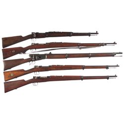 Five Military Bolt Action Rifles -A) 1916 Spanish Mauser Bolt Action Short Rifle