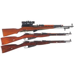 Three Boxed Long Guns -A) Norinco SKS Semi-Automatic Rifle with Scope
