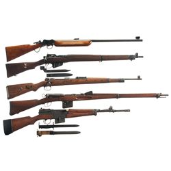 Five European Rifles -A) BSA Martini Falling Block Rifle