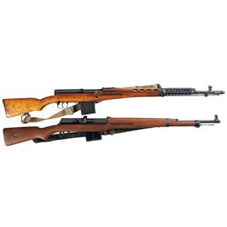 Two Military Semi-Automatic Rifles -A) Russian Model 1940 SVT Semi-Automatic Rifle