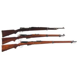 Three Military Longarms -A) Colombian Mauser 98 Bolt Action Rifle