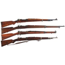 Four Military Bolt Action Rifles -A) Yugoslavian Mauser Model 24/47 Bolt Action Rifle