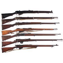 Seven Military Long Arms -A) BSA SMLE MKIII* Bolt Action Rifle