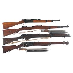Four Military Bolt Action Longarms -A) Tulle Model 1886 R35 Bolt Action Rifle
