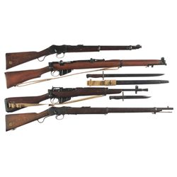 Four British Military Longarms -A) Enfield IC1 22 Caliber Carbine
