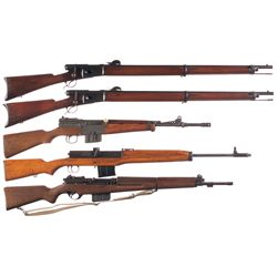 Five Military Rifles -A) Vetterli Model 1881 Bolt Action Rifle