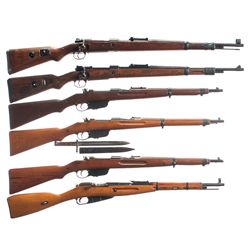 Six Bolt Action Military Longarms -A) Rare Erma  ax/41  Code K98 Bolt Action Rifle