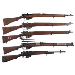 Five Bolt Action Military Longarms -A) Enfield No.1 MK I Bolt Action Rifle