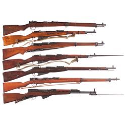 Seven Military Longarms -A) Nagoya Arsenal Type 99 Bolt Action Rifle