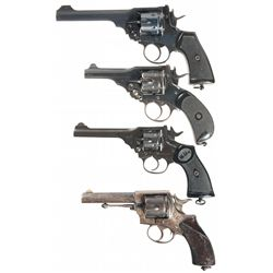 Four Webley Double Action Revolvers -A) Webley & Scott Mark VI Double Action Revolver