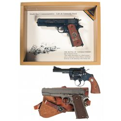 Three Colt Handguns -A) Cased Colt Battle of Chateau Thierry World War I Commemorative Model 1911 Se