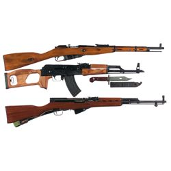 Three Rifles -A) Mosin Nagant Model 91/59 Bolt Action Rifle