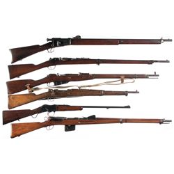 Six Rifles -A) Vetterli Model 1881 Bolt Action Rifle