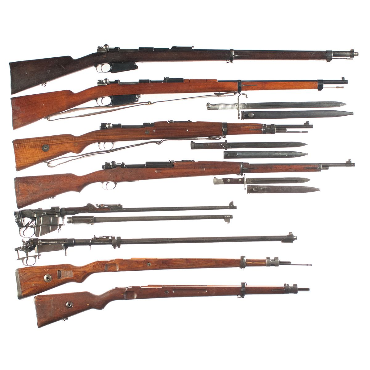 Six Bolt Action Military Rifles -A) Rare FN Mauser Model