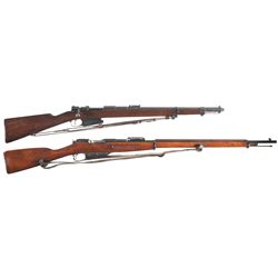 Two Bolt Action Rifles -A) Rare Hopkins & Allen Mauser Model 1889 Bolt Action Rifle
