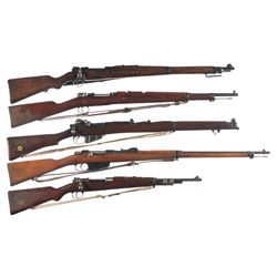 Five Military Bolt Action Rifles -A) Erfurt Arsenal Kar 98 Bolt Action Rifle
