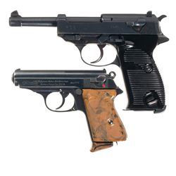 "Two German Semi-Automatic Pistols -A) Spreewerke ""cyq"" Code P-38 Semi-Automatic Pistol"