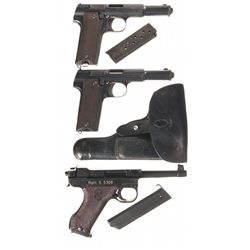 Three Semi-Automatic Pistols -A) Astra Model 600 Semi-Automatic Pistol