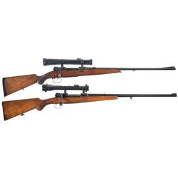 Two Scoped Bolt Action Rifles -A) Custom German Model 98 Bolt Action Rifle