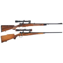 Two Scoped European Bolt Action Rifles -A) Mauser Model 98 Sport Model Bolt Action Rifle