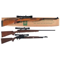 Three Scoped Long Rifles -A) Husqvarna Model 9000 Bolt Action Rifle with Box