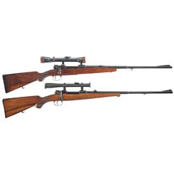 Two Scoped German Rifles -A) Custom Mauser Bolt Action Scoped Rifle