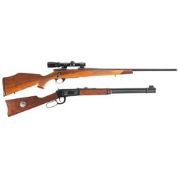 One Rifle and One Carbine -A) Weatherby Vanguard Bolt Action Rifle with Scope