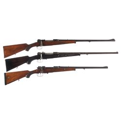 Three Bolt Action Rifles -A) German Bolt Action Sporter Rifle