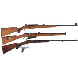 Three Longguns and One Pistol -A) Husqvarna Bolt Action Rifle