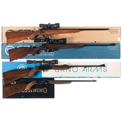 Four Boxed Bolt Action Rifles -A) CZ Model 452 2E ZKM Bolt-Action Rifle with Scope