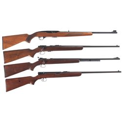 Four Winchester Rifles -A) Winchester Model 490 Semi-Automatic Rifle