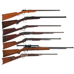 Seven Rifles -A) Stevens Little Krag Single Shot Rifle