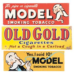 Three Vintage Tobacco Advertising Signs