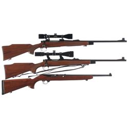Two Scoped Rifles and One Carbine