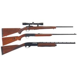 Three Sporting Longarms -A) Ruger Model 77/22 Bolt Action Rifle with Scope