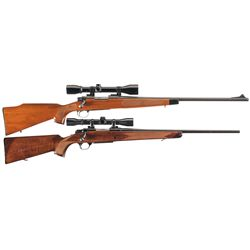 Two Scoped Bolt Action Rifles -A) Remington Model 700 BDL Rifle