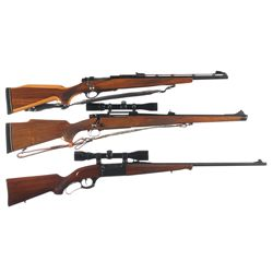 Three Sporting Rifles -A) Remington Model 600 Magnum Bolt Action Rifle