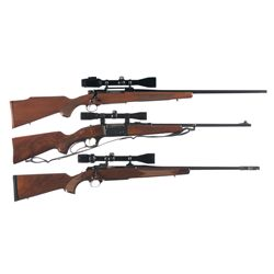 Three Scoped Sporting Rifles -A) Winchester Model 70 XTR Bolt Action Rifle