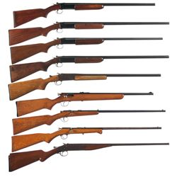 Six Shotguns and Three Rifles -A) Winchester Model 37 Single Shot Shotgun