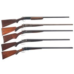 Five Shotguns -A) Winchester Model 37 Single Barrel Shotgun