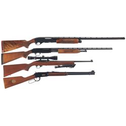 Four Long Guns -A) Remington Model 870TB Slide Action Trap Shotgun