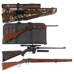 Four Long Guns -A) Savage Kimel Kamper Model KK2 Single Barrel Shotgun with Extra Barrel